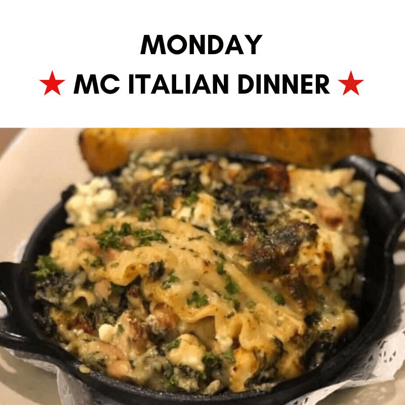Monday - MC Italian Dinner